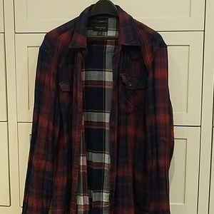 True Religion western flannel shirt, xl, slim fit